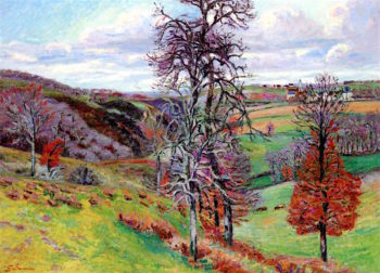Landscape with Village in the Background | Armand Guillaumin | oil painting