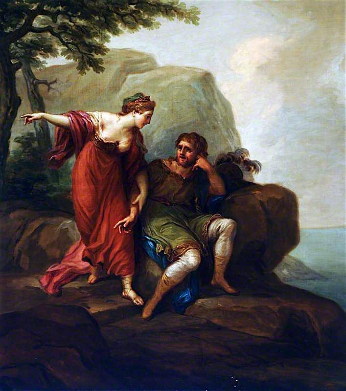 Dido and Aeneas (?) | Antonio Zucchi | oil painting