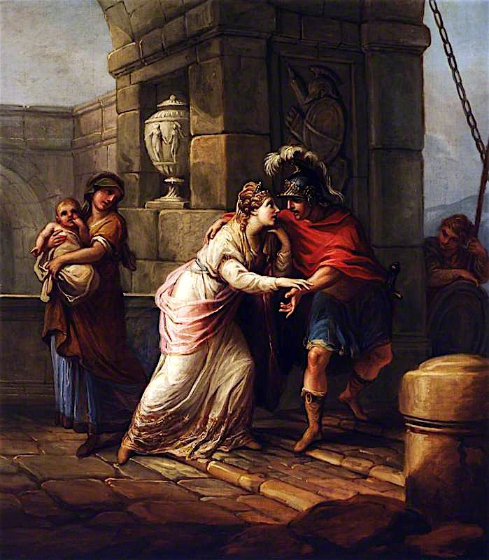 Hector and Andromache   Antonio Zucchi   oil painting