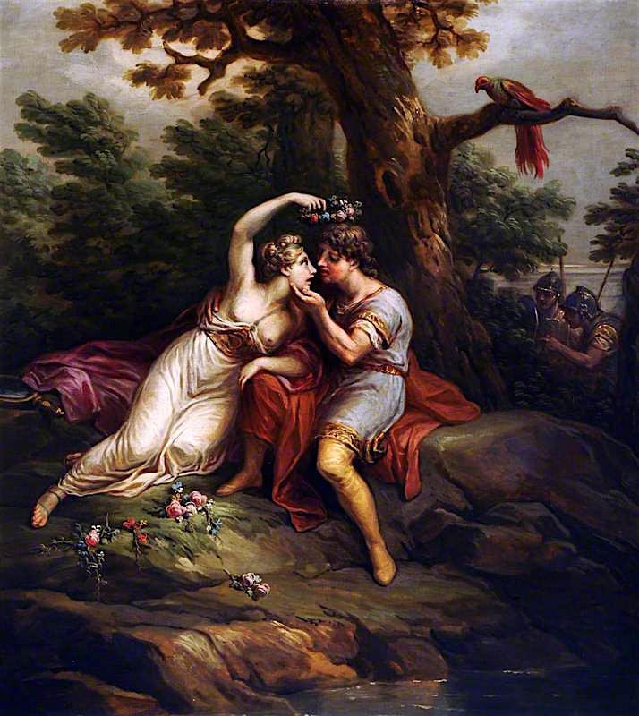 Rinaldo and Armida   Antonio Zucchi   oil painting