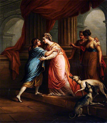 The Return of Telemachus | Antonio Zucchi | oil painting