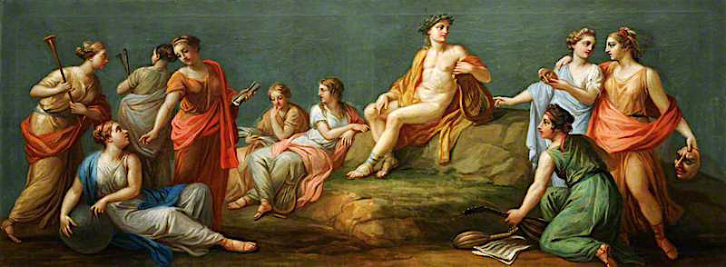 Apollo and the Muses | Antonio Zucchi | oil painting
