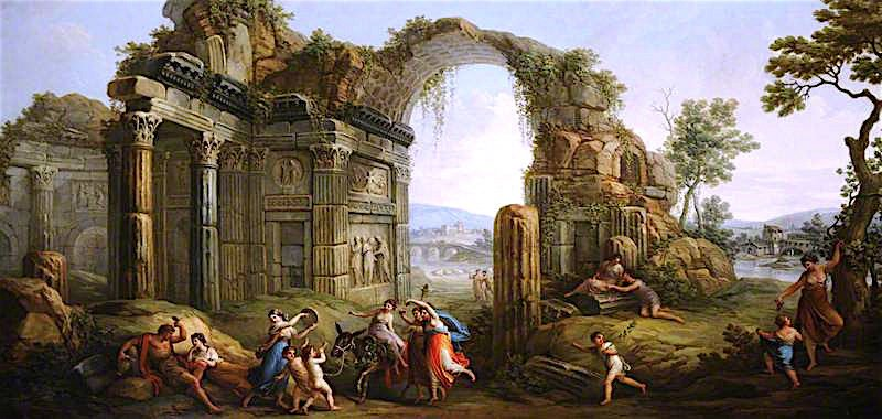 Capriccio of Figures Dancing amongst Classical Ruins