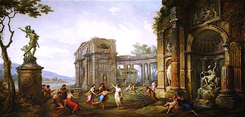 Capriccio of Figures Dancing amongst Classical Ruins