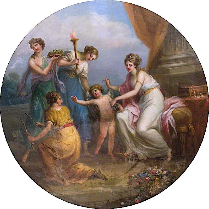 Disarming of Cupid | Antonio Zucchi | oil painting