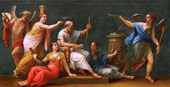 Homer Crowned as Poet Laureate | Antonio Zucchi | oil painting