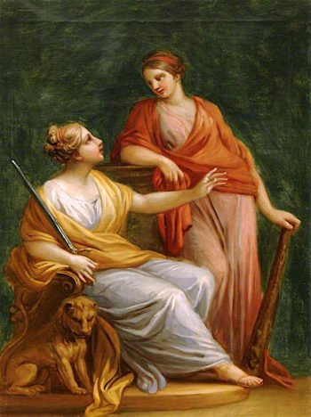 Justice and Strength | Antonio Zucchi | oil painting