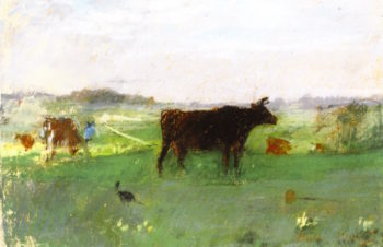 Cows in Normandy | Berthe Morisot | oil painting