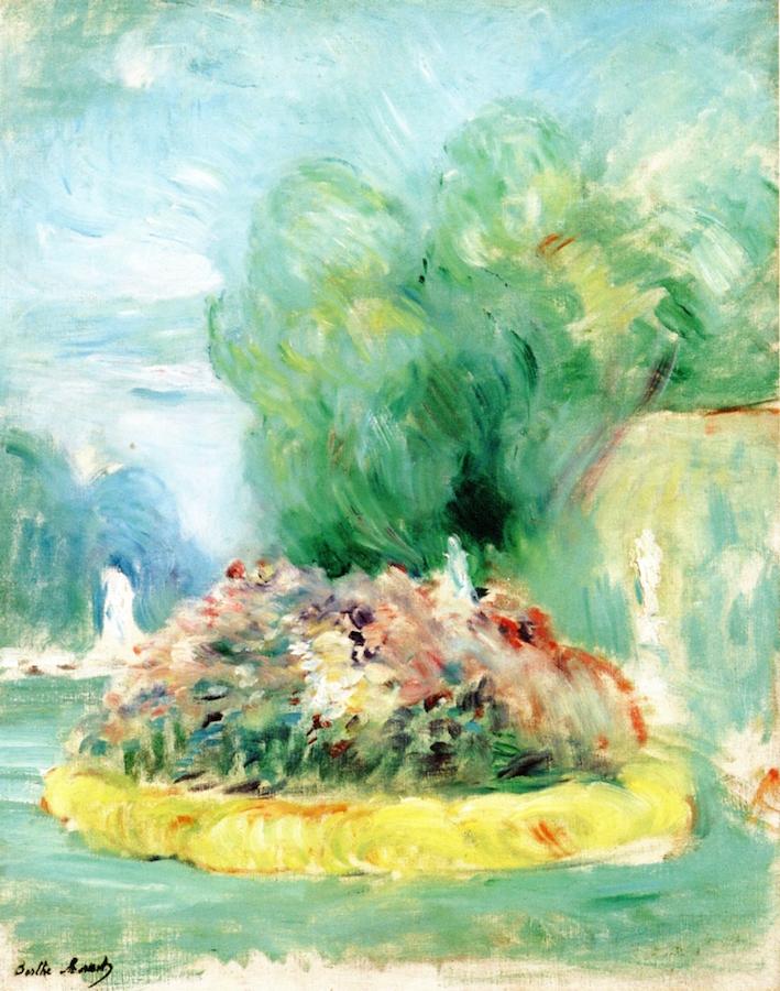 Park at Fontainebleau | Berthe Morisot | oil painting