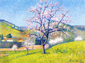 Apples Trees in Bloom | Achille Lauge | oil painting