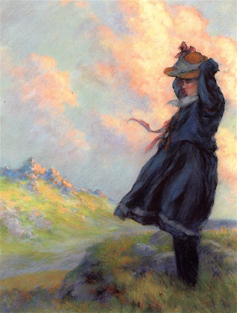 The Blue Hills   Charles Courtney Curran   oil painting