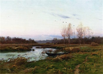 December Twilight   Charles Harold Davis   oil painting