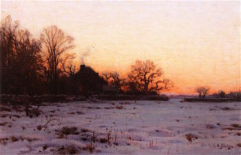 Twilight Mid Winter | Charles Harold Davis | oil painting