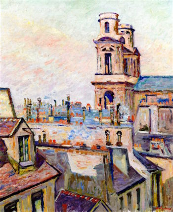 The Eglise Saint - Sulpice in Paris | Armand Guillaumin | oil painting