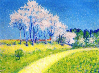 Path in Springtime | Achille Lauge | oil painting