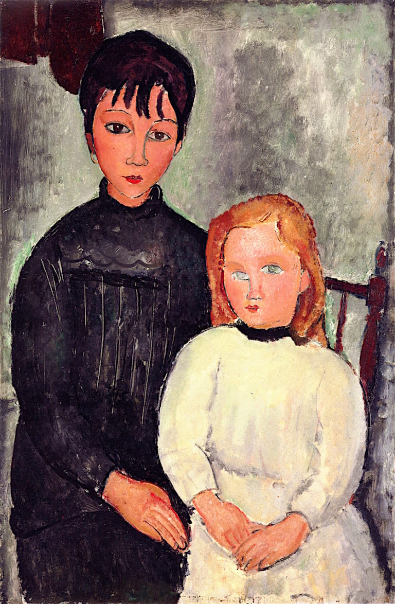 Two Girls | Amedeo Modigliani | oil painting