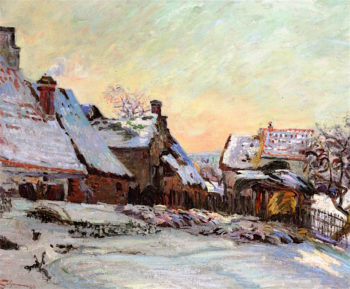 Farms in Winter in Ile - de - France | Armand Guillaumin | oil painting