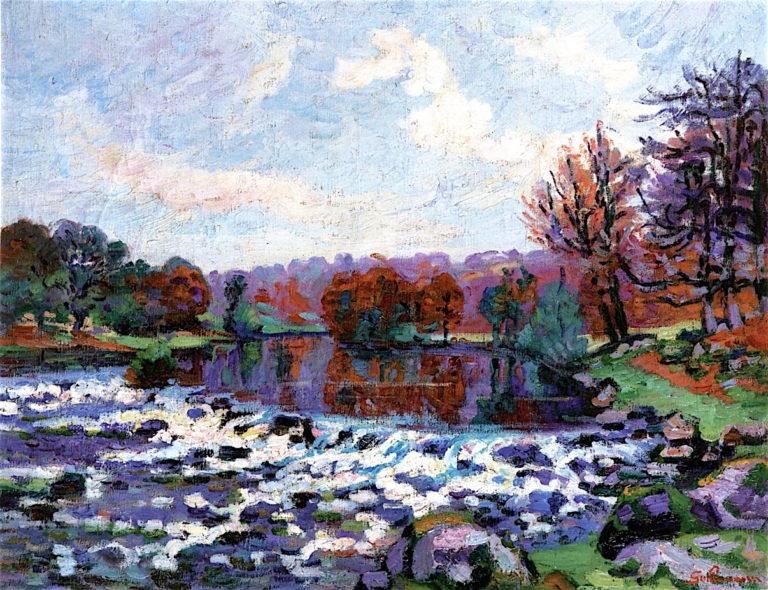 Dam at Genetin | Armand Guillaumin | oil painting