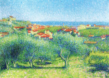 View of Collioure | Achille Lauge | oil painting