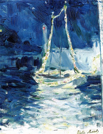 Illuminated Boat | Berthe Morisot | oil painting