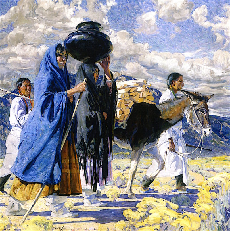 Going East | Walter Ufer | oil painting
