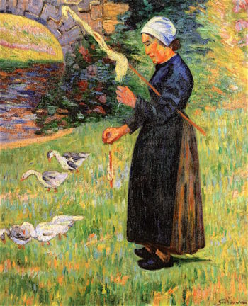 The Guardian of the Geese | Armand Guillaumin | oil painting
