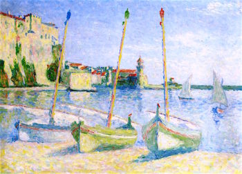 Boats at Collioure | Achille Lauge | oil painting