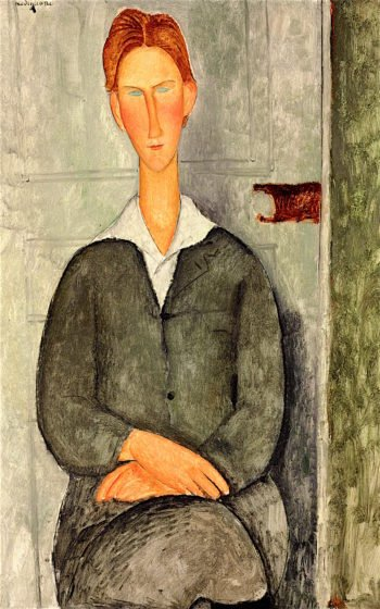 Young Red Haired Man Sitting | Amedeo Modigliani | oil painting