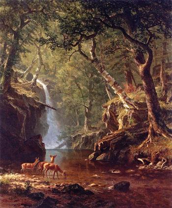 Cascading Falls | Albert Bierstadt | oil painting