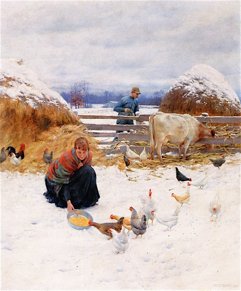 In the Barnyard | Charles Courtney Curran | oil painting