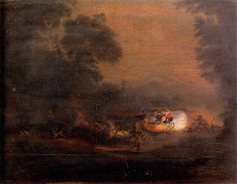 A Dire Predicament | Alvan Fisher | oil painting