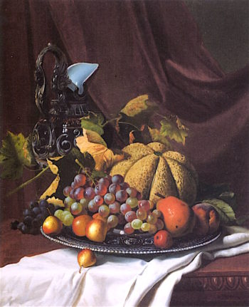 Still Life with Fruit and Ewer | Andrew J. H. Way | oil painting