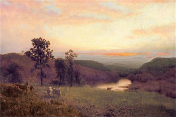 Evening Landscape | Alexander Helwig Wyant | oil painting