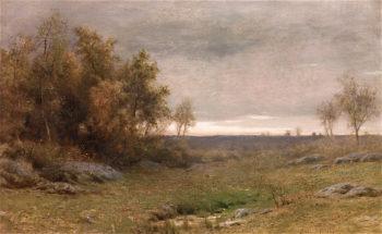 Sunset Landscape   Albert Babb Insley   oil painting