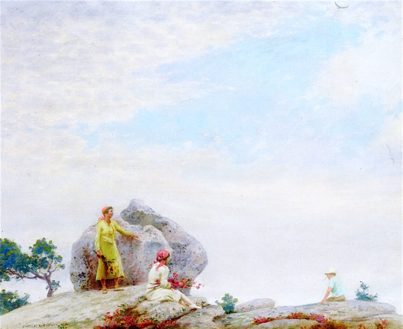 Gray Day on the Cliff | Charles Courtney Curran | oil painting