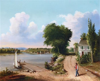 Catskill on Hudson | Albertus del Orient Browere | oil painting