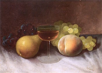 Still Life with Fruit and Wine Glass | Carducius Plantagenet Ream | oil painting