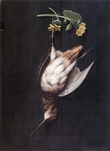 Hanging Woodcock with Flowers | Alexander Pope | oil painting