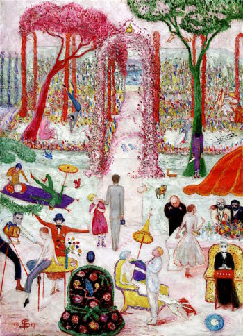 Sunday Afternoon in the Country | Florine Stettheimer | oil painting