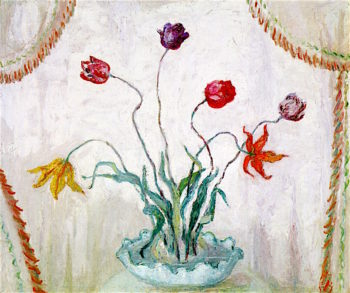 Bowl of Tulips | Florine Stettheimer | oil painting
