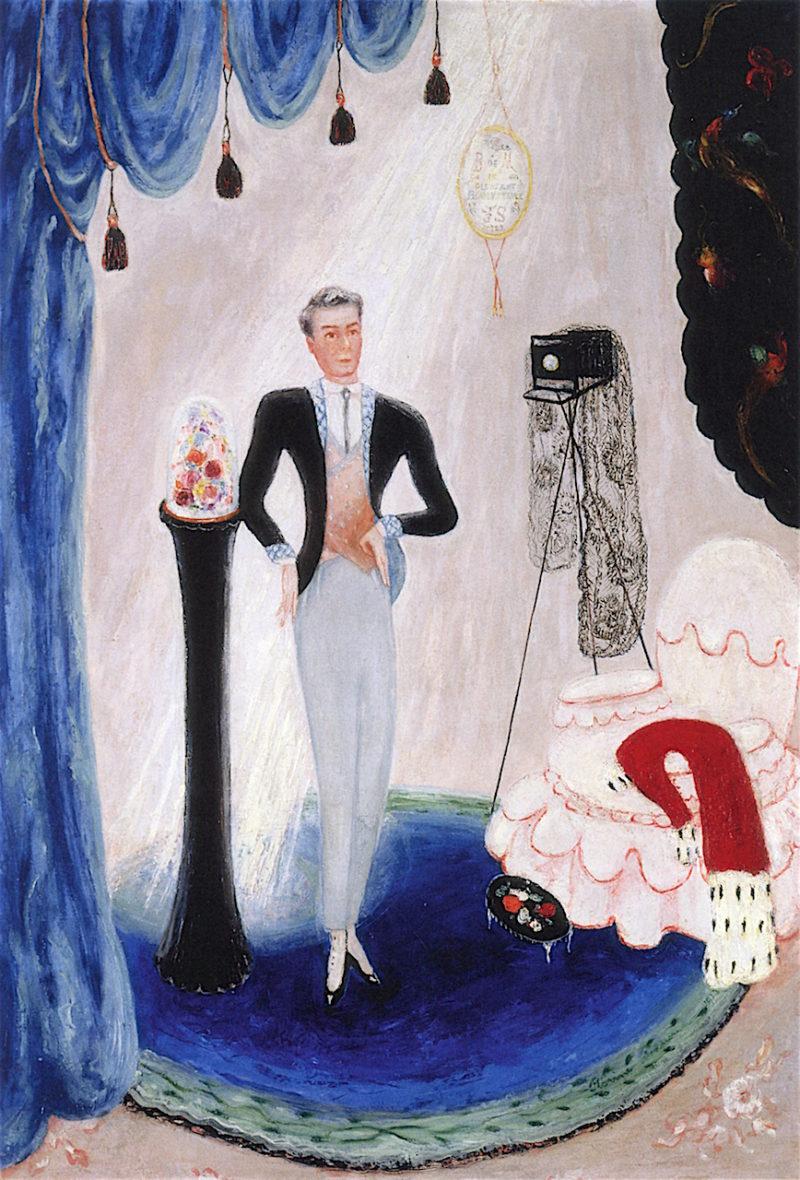 Portrait of Baron de Meyer   Florine Stettheimer   oil painting