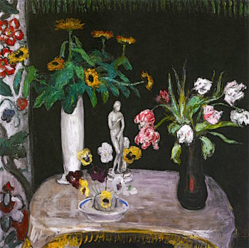 Flowers with Aphrodite | Florine Stettheimer | oil painting