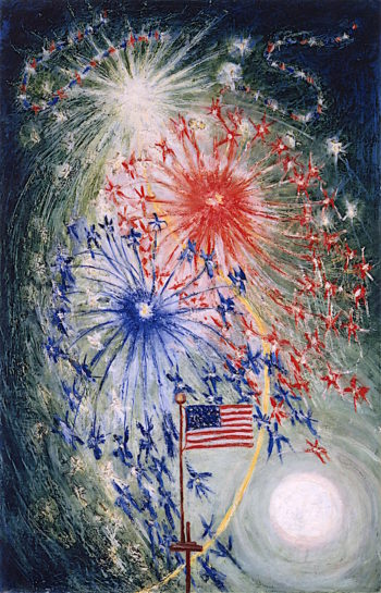 Fourth of July Number 1 | Florine Stettheimer | oil painting