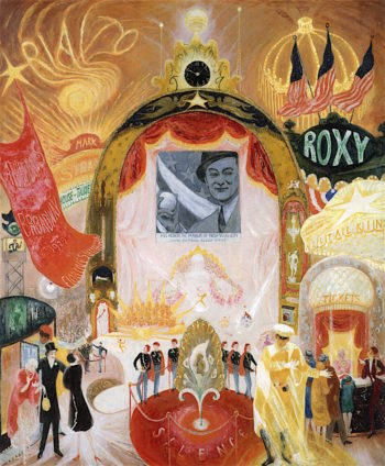 The Cathedrals of Broadway | Florine Stettheimer | oil painting