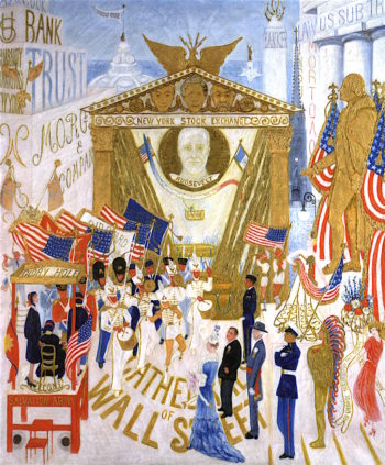 The Cathedrals of Wall Street | Florine Stettheimer | oil painting