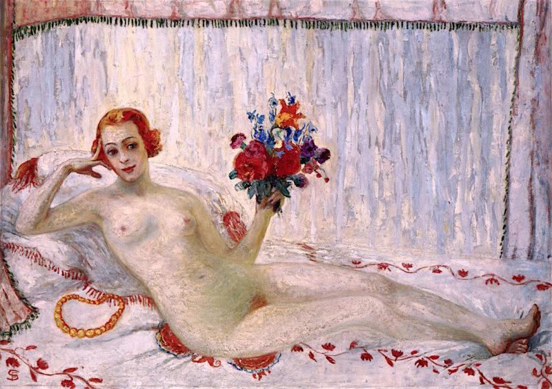 A Model (Nude Self - Portrait)   Florine Stettheimer   oil painting