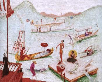 Lake Placid   Florine Stettheimer   oil painting