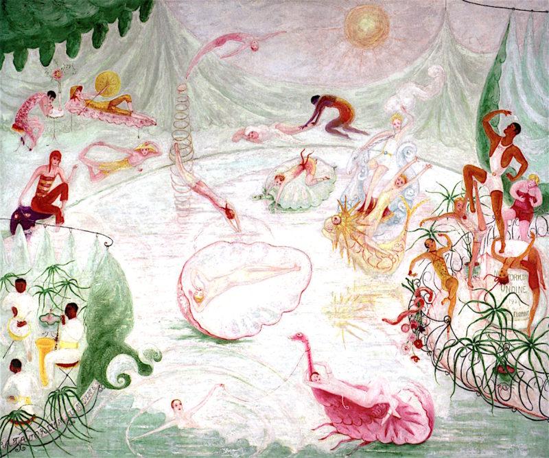 Natatorium Undine | Florine Stettheimer | oil painting