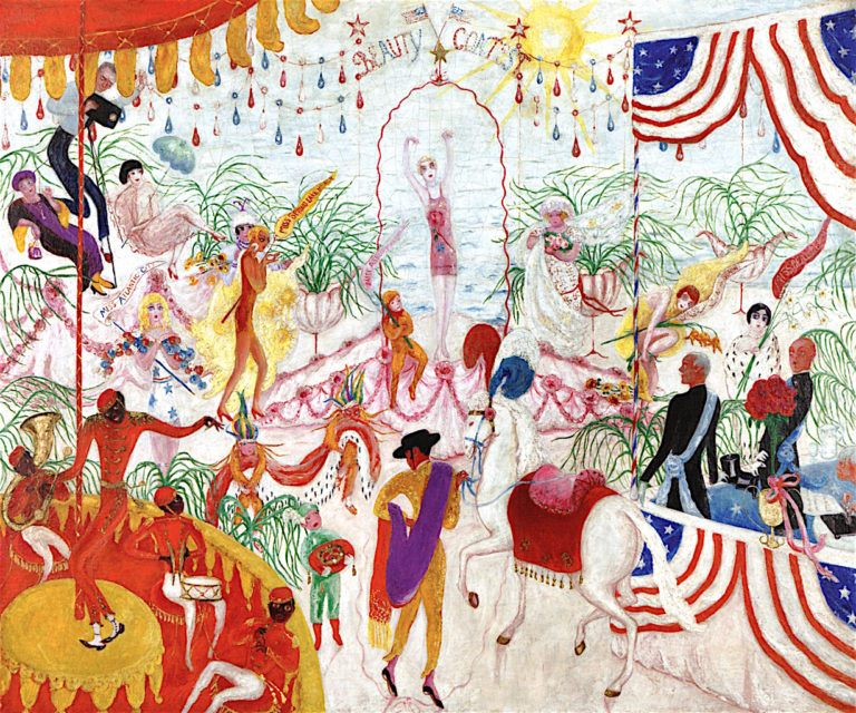 Beauty Contest -  to the Memory of P. T. Barnum | Florine Stettheimer | oil painting