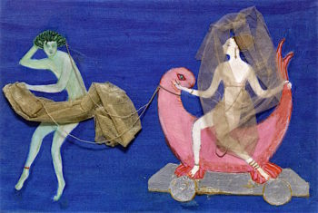 Costume Design (Aphrodite on a Dolphin) for Artists Ballet Orphée of the Quat - Z - Arts | Florine Stettheimer | oil painting